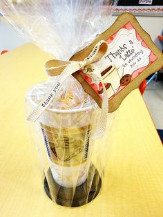 Teacher Gift. Fill with Starbucks or Barnes and Noble gift card. Awesome packaging idea