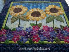 Sunflower Quilt - Quilt Pictures, Patterns & Inspiration... - APQS ...