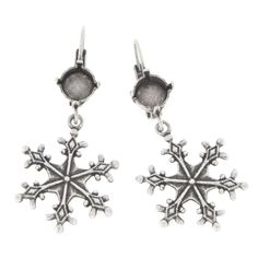 39ss with hanging snowflake leverback earring base | Gita Jewelry