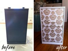 decor-eat: DIY // Filing Cabinet Makeover - Office Drab To Office Chic