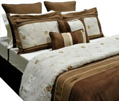 EverRouge Fujita 12-Piece Bed in a Bag, California King by EverRouge. $119.64. Comforter, 2 shams, 2 euro shams, 4-piece sheet set, bed skirt and 2 dec pillows. Decorative pillows are spot clean only; comforter, shams, skirt, euro, etc are dry clean only. Square pillow 18-inch by 18-inch, oblong pillow 12-inch by 18-inch. Sheet set 100-percent cotton. Sheet set 200 thread count. The Fujita comforter set accents the rich fabric texture with artistically crafted floral embroidery...