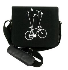 Birds On Wheels Water Repellent Material IT Bag Bicycle Print, All Gifts, Printed Bags, Online Gifts, Laptop Bag, Saddle Bags, Studs, Abs, Prints