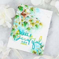 Hoping to bring you a bit of the outdoors to your day even if you may be stuck inside! Sometimes a little cardmaking therapy with stamps is all you need . Small Yellow Flowers, Water Brush Pen, Outline Images, Spring Scene, Different Feelings, Distress Oxide Ink, Have A Beautiful Day, Ink Color, Cardmaking