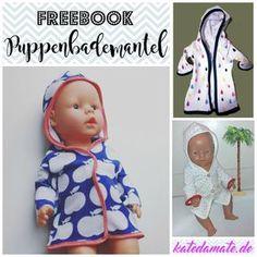 Freebook Puppenbademantel /Bademantel für Puppen