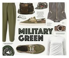 """Military Green"" by katarina-blagojevic ❤ liked on Polyvore featuring P.A.R.O.S.H., Sperry, T By Alexander Wang, Diesel, Kerr®, Diane Von Furstenberg, Bed