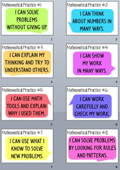 Mathematical Practices Posters in Kid Friendly Language by Everybody is a…