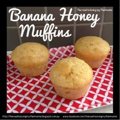These came about as I wanted to make my monthly batch of muffins but didn't have enough butter for the final batch. Coconut oil to the rescue! You can of course Thermomix Banana Muffins, Thermomix Desserts, Bellini Recipe, Snack Recipes, Cooking Recipes, Cupcake Recipes, Dinner Recipes, Biscuit Cake, Lunch Snacks