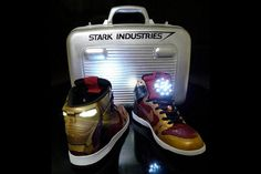 This custom sneaker is out of this world! Nike Iron Man Dunks (Customs)