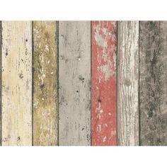 A.S. Creation Vliestapete New England Holz Rot-Braun - Photohintergrund:-)