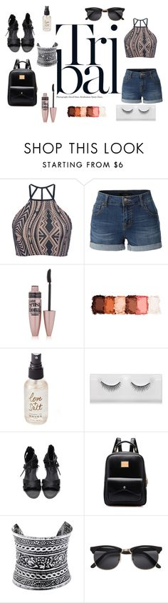 """tribal"" by akidesekerii on Polyvore featuring moda, Triya, LE3NO, Maybelline, NYX, Olivine ve LULUS"