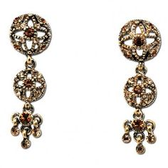 Baroque Jewellery Set In Old Gold Style