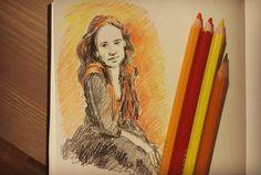 У меня оказались неплохие цветные карандаши.  #drawing #illustration #portrait #sketch #pencil #sketchbook #art #artwork #painting #eskiz #портрет #рисунок #карандаш #набросок #эскиз