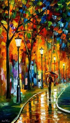 """Beautiful Oil Paintings On Canvas Stunning Wall Art By Leonid Afremov – The Way To Warmth. Size: 20 """"x cm x 90 cm) - ART Canvas Painting Landscape, City Painting, Oil Painting Abstract, Knife Painting, Painting Art, Warhol Paintings, Art Paintings, Famous Artists Paintings, Famous Landscape Paintings"""