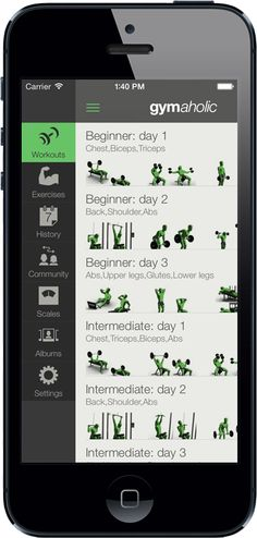 The #Gymaholic #Fitnessapp provides you extra #motivation with its #progress photo-video feature, 31 #statistics and effortless #tracking to follow your #fitness #activity and make progress. #iphone #app #free #freeapp