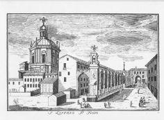 Basilica di S. Lorenzo, Corso di Porta Ticinese, Dal Re, 1745.
