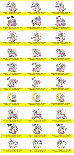 Unicorn Embroidery Designs Set 1 by EmbroiderByMADELEINE on Etsy Rainbow Unicorn, May 7th, Set Design, Marketing And Advertising, Embroidery Designs, Handmade Items, Etsy, Stage Design, Stage Equipment