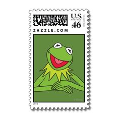 Shop Kermit the Frog Postage created by muppets. Pretty Much Band, Disney Tickets, How To Make Stickers, Diy Crafts Hacks, Kermit The Frog, Good Notes, Vintage Stamps, Aesthetic Stickers, Stamp Collecting