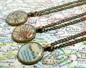 CUSTOM Map Locket. You Select Location. Anywhere In The World. Map Pendant. Map Jewelry. Personalized.. $22.00, via Etsy.