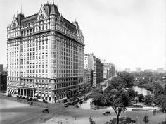 The Plaza hotel, which stands tall at the southeastern corner of the park, in quieter times.