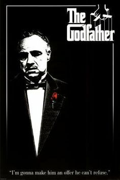 Godfather (Red Rose) Movie Poster Print - 24