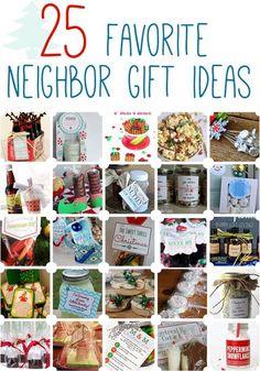 25 Favorite Neighbor Gift Ideas www.oneshetwoshe.com