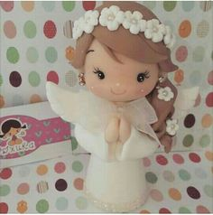 1 million+ Stunning Free Images to Use Anywhere Polymer Clay Ornaments, Polymer Clay Christmas, Polymer Clay Dolls, Polymer Clay Projects, Clay Angel, First Communion Cakes, Free To Use Images, Clay Baby, Cute Clay