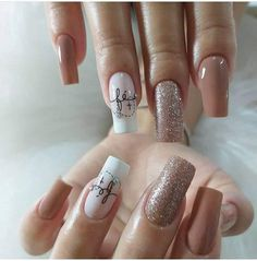 Gel Uv Nails, Manicure And Pedicure, Glitter Nails, Pastel Pink Nails, Purple Nails, Summer Acrylic Nails, Cute Acrylic Nails, Fabulous Nails, Perfect Nails