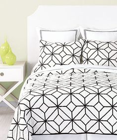 Trina Turk Trellis Black Embroidered Quilt Collection - Bedding Collections - Bed & Bath - Macy's