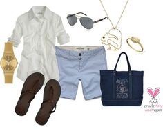 """""""Preppy Navy & Gold"""" by pbmhuck on Polyvore"""