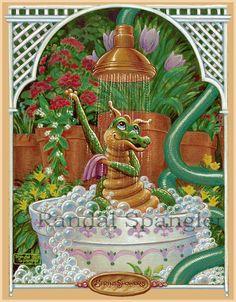 12 beaux tableaux de randal spangler - Page 5 Magical Creatures, Fantasy Creatures, Cute Dragon Drawing, Dragon Cat, Cartoon Dragon, Spring Shower, Cute Dragons, Fantasy Dragon, Dibujo