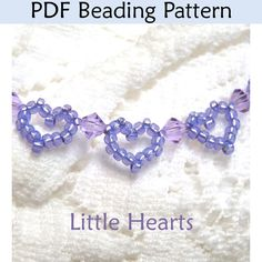 Little Hearts Bracelet PDF Beading Pattern - this pattern cost $$ but might look for a free one somewhere else