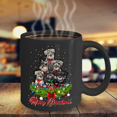 Schnauzer gifts - Schnauzer Merry Christmas - Ceramic Cozy Cup Dear Santa, Schnauzer Merry Christmas - Super cute Gift for Schnauzer lovers. Printed on only the highest quality mugs. The print will never fade no matter how many times it is washed. Packaged, and shipped from the USA. 100% Dishwasher and Microwave safe. Shipped in a custom made styrofoam package to ensure it arrives perfect. GUARANTEED.