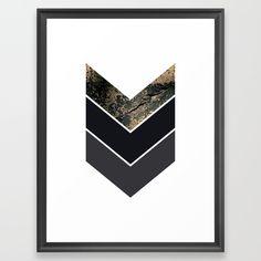 Scandinavian Gold Concrete Black Gray Geometric Pattern Framed Art Print. Scandinavian Gold Concrete Black Gray Geometric Pattern.  NORDIC, GOLD , GRAY, BLACK, DARK, GEOMETRIC, PATTERN, BOHO , HIPSTER, TRENDY, SOCIETY6, TRIANGLES, SCANDINAVIAN, PRINT, DUVET, BLACK AND WHITE, INTERIOR DESIGN, DESIGNER, home decor, DECORATION