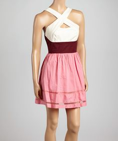 I just ordered this Peony Color Block Crisscross Sleeveless Dress on #zulily! I cannot wait to get it!!!