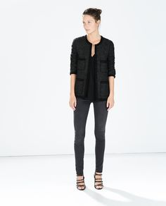ZARA - WOMAN - STRUCTURED WOVEN JACKET WITH POCKETS fall 2014