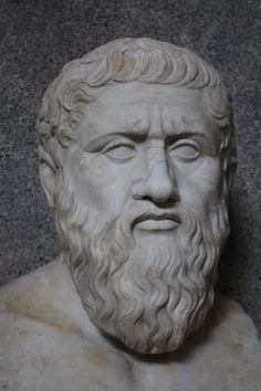 Bust of the Greek philosopher Plato, mid-1st century CE copy from a 4th century BCE original statue by Silanion. (Vatican Museums, Rome).