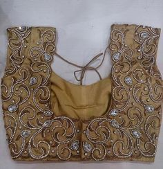 Discover thousands of images about Designer Blouse Images: February 2015 Cutwork Blouse Designs, Wedding Saree Blouse Designs, Simple Blouse Designs, Embroidery Neck Designs, Stylish Blouse Design, Aari Embroidery, Simple Embroidery, Mirror Work Blouse Design, Designer Blouse Patterns