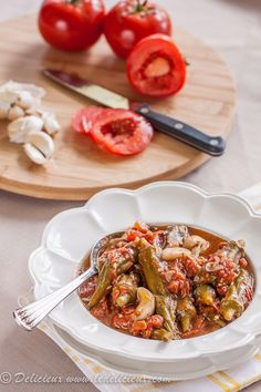 Okra & Sautéed Tomatoes #vegan #recipe #vegetarian