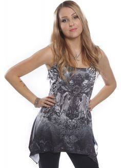 Innocent Clothing Celtic Faith Lace Panel Vest | Attitude Clothing