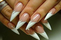 """French tip """"claws"""""""