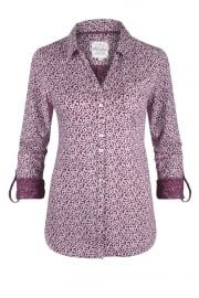 Spot The Dot Printed Jersey Shirt Amaranth/white