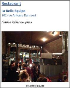 Restaurant La Belle Equipe - 202 rue Antoine Dansaert - Pentagone