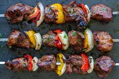 The Best Grilled Lamb Kabobs Traeger Recipes, Kabob Recipes, Meat Recipes, Dinner Recipes, Cooking Recipes, Lamb Kabobs Recipe, Healthy Lamb Recipes, Grilled Lamb