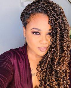 Crochet Twist Hairstyles, Flat Twist Hairstyles, Senegalese Twist Hairstyles, Curly Crochet Hair Styles, Braided Hairstyles, Curly Hair Styles, Natural Hair Styles, Braided Ponytail, Senegalese Twist Crochet Braids