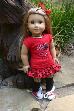 I love my dog 3 piece  outfit to fit your 18 by MiniMeDollyDivas, $25.00
