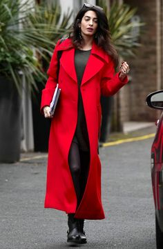 Mrs. Clooney was seen out in public for the first time since her pregnancy news was confirmed, and she looks as chic as ever.