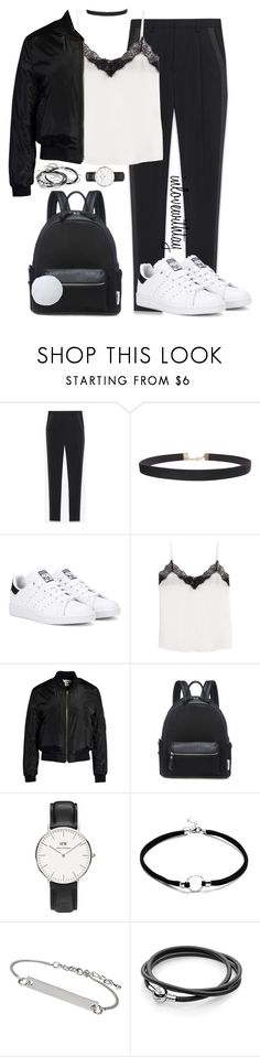 """37❤"" by inlovewithtay ❤ liked on Polyvore featuring Yves Saint Laurent, Humble Chic, adidas Originals, The Kooples, Sans Souci, Daniel Wellington, Topshop and Candie's"