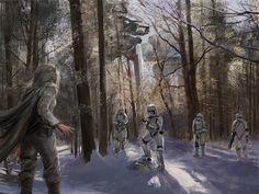 Star Wars Winter, Tymoteusz Chliszcz on ArtStation at https://www.artstation.com/artwork/zrg9q