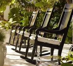 love rocking chairs for the porch...