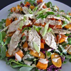 Chicken Salad, Tahini Dressing, Macaroni Salad, Whole 30 Recipes, Summer Salads, Caprese Salad, Paleo Diet, Paleo Recipes, Salads